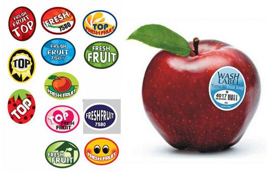 فروش برچسب روی میوه