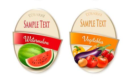 فروش انواع لیبل بسته بندی میوه
